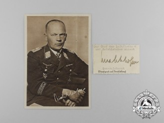 A Picture Postcard with Wartime Signature of  Colonel General Freiherr von Richthofen