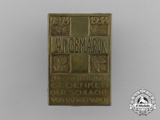 A 20 Year Anniversary Remembrance Badge for the Battle of Langemarck