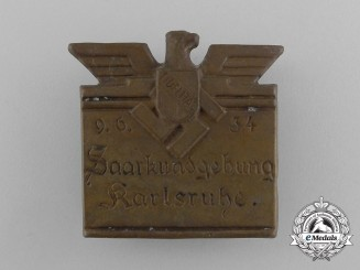 A 1934 Karlsruhe Town Rally Badge