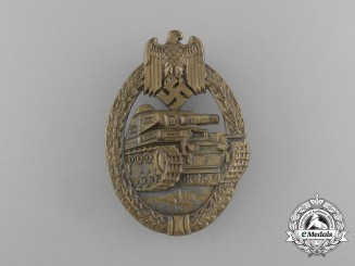 An Absolutely Mint Bronze Grade Tank Badge by Ferdinand Wiedmann
