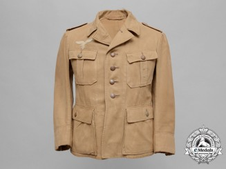 A Luftwaffe Tropical Tunic by Walter Hartung Magdeburg