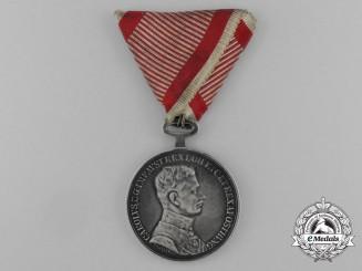An Austrian Bravery Medal; Silver Grade Medal; 1st Class
