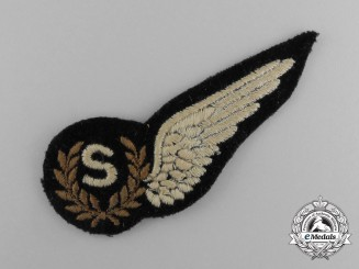 A Second War Royal Air Force (RAF) Signaller (S) Wing