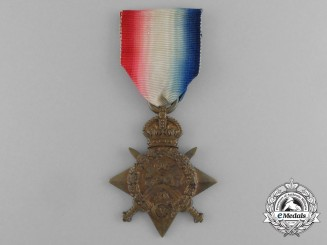 A 1914 Star to Private A.L. Farrow; Army Service Corps