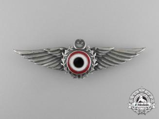 "An Egyptian Air Force ""Farouk"" Pilot Wings c. 1986"