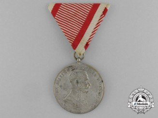 An Austrian Bravery Medal; Silver Grade (1914-1916)