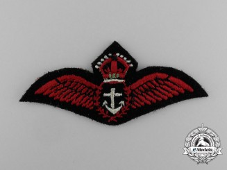 A Royal Canadian Naval Volunteer Reserve (RCNVR) Fleet Air Arm  (CPO) Pilot Wing