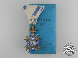 A Serbian Order of St. Sava; 4th Class  (1921-1941) with Case