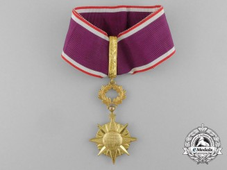 A French International Order of the Public Good; Commander
