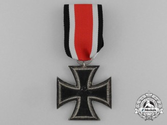 An Iron Cross 1939 Second Class by Scarce Austrian Maker Anton Schenkl of Vienna