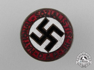An Early Small NSDAP Party Member's Lapel Badge