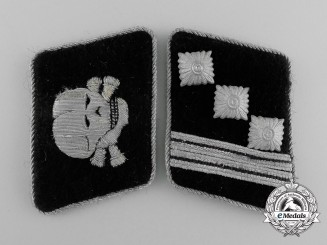 A Uniform Removed Set of Waffen-SS Sturmscharführer Collar Tabs