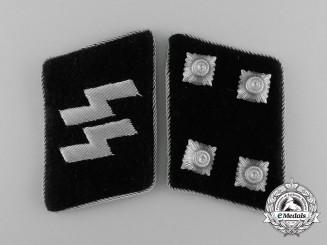 A Matching Set of Waffen-SS Sturmbannführer Collar Tabs