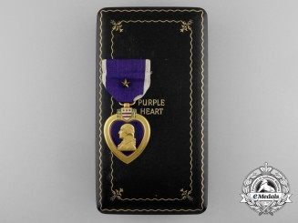 An American Purple Heart with Case