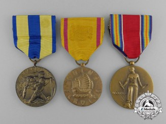 Three American Service Medals