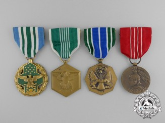 Four American Service and Achievement Medals