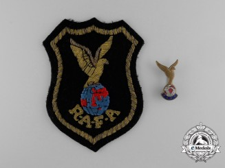 A Royal Air Force Association (RAAF) Blazer Patch and Badge