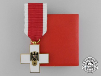 A Mint DRK (German Red Cross) Decoration 3rd Class in its Original LDO Case of Issue