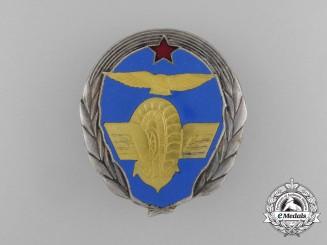 A Yugoslavian Air Force Car & Truck Drivers School Instructor's Badge