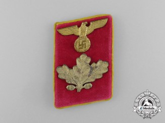 A Scarce Single NSDAP Reichs Level Dienstleiter Collar Tab