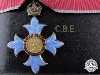 A QEII Commander of the Most Excellent Order on the British Empire (CBE) with Case