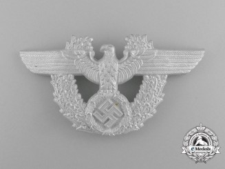 "A Second War German Police ""Shako"" Eagle for a Service Pouch by C.T.D"