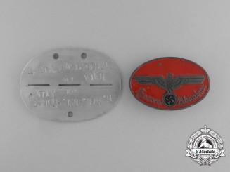 Germany. A Heeres-Abnahme Inspectors Badge & ID Disc