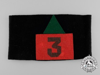 "A First War 3rd Canadian Infantry Battalion ""Toronto Battalion"" Armband"