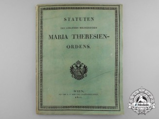 An 1811 Version of the Statutes of the Order of Maria Theresa
