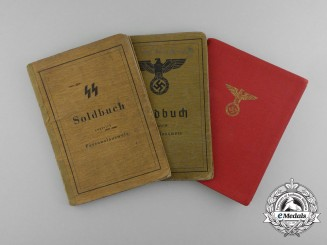Three ID Books to SS-Sturmmann Ferdinand Forstenpointner