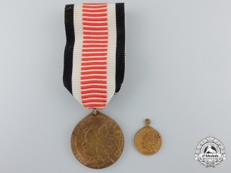 A German Imperial South West Africa Medal Campaign Medal with Miniature