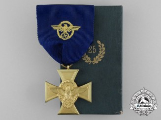 A Mint Third Reich Period German 25-Year Long Service Medal in its Original Case of Issue