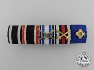 A First War and 40 Year Faithful Service Decoration Ribbon Bar