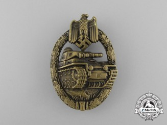 An Early Bronze Grade Tank Badge; Hollow Version