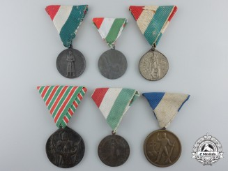 Hungary. Six Sport Medals