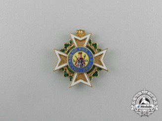 A Minature Saxon Military Order of St. Henry in Gold