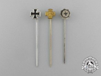 Three 1957 Version Issued Award Stickpins