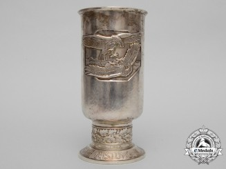 A Luftwaffe Honour Goblet to Corporal Georg Gerlach by Johann Wagner & Sohn