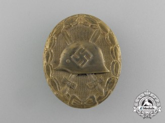 A Second War German Gold Grade Wound Badge by the Official Vienna State Mint