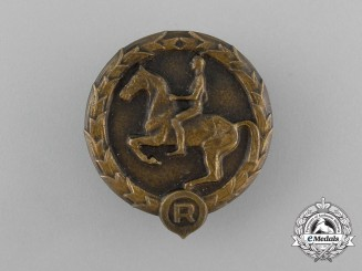 A 1932-1945 German Youths Equestrian Badge by Christian Lauer of Nürnberg