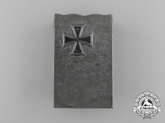 "A First War German ""Iron Cross 1914"" Matchbox Cover"