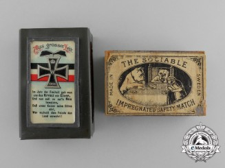 "A First War German ""From the Great Age"" Matchbox Cover with Matchbox"