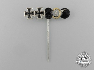 A 1957 Version of a Second War German Miniature Stick Pin Bar Consisting of Five Awards