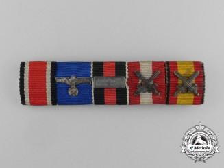 A Rare Heer Spanish Civil War Participants Ribbon Bar