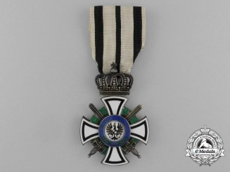 A Prussian House Order of Hohenzollern; Knight's Cross with Swords by Sy & Wagner