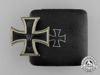 An Iron Cross 1914 First Class; Marked; in its Case of Issue by Meybauer