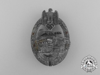 A Second War German Silver Grade Tank Badge