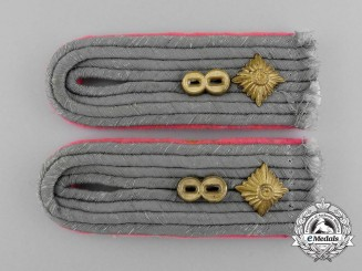 A Pair of Wehrmacht Heer (Army) Panzertruppe Oberleutnant Shoulder Boards