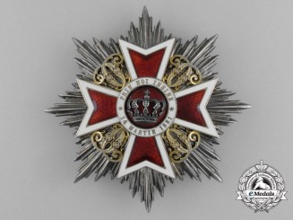 An Order of the Crown of Romania; Grand Cross Star (1881-1932)