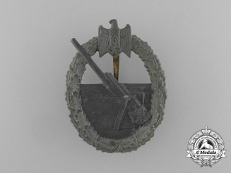 A Kriegsmarine Coastal Artillery Badge by Forester & Barth